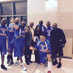 Sponsoring the Harlem Globe Trotters for the Cecil Herrin Breast Cancer fundrais